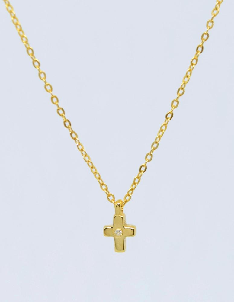 Γυναικείο Κολιέ Κίτρινο Χρυσό 594fb721a86
