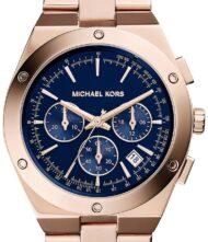 Ρολόι Michael Kors Reagan χρονογράφος με ρόζ χρυσό μπρασελέ MK6148