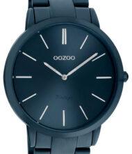 OOZOO Vintage Summer Blue C20102 Unisex ρολόι Oozoo με μπλε χρώμα καντράν και μπρασελέ από ανοξείδωτο ατσάλι.