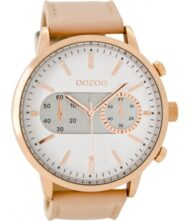 OOZOO TIMEPIECES C9056 Γυναικείο ρολόι Oozoo με λευκό χρώμα καντράν και λουράκι από δέρμα.