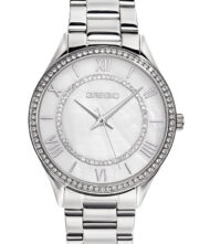 Γυναικείο ρολόι GREGIO Matie Crystals GR180010 Γυναικείο ρολόι Gregio με λευκό χρώμα καντράν και μπρασελέ από ανοξείδωτο ατσάλι.