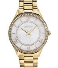 Γυναικείο ρολόι GREGIO Matie Crystals GR180020 Γυναικείο ρολόι Gregio με λευκό χρώμα καντράν και μπρασελέ από ανοξείδωτο ατσάλι.