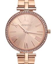 Γυναικείο ρολόι GREGIO Gisele GR190030 Γυναικείο ρολόι Gregio με ροζ χρυσό χρώμα καντράν και μπρασελέ από ανοξείδωτο ατσάλι.