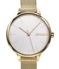 Γυναικείο ρολόι GREGIO Fiorella GR220020 Γυναικείο ρολόι Gregio με λευκό χρώμα καντράν και μπρασελέ από ανοξείδωτο ατσάλι.