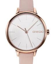 Γυναικείο ρολόι GREGIO Fiorella GR220080 Γυναικείο ρολόι Gregio με λευκό χρώμα καντράν και δερμάτινο μπεζ λουράκι.