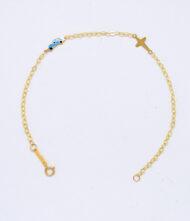Παιδικό βραχιόλι 9 καράτια και 14 καράτια σε κίτρινο χρυσό χρώμα. Το βραχιόλι βγαίνει σε όλα τα χρώματα χρυσό, ροζ χρυσό και λευκό χρυσό.