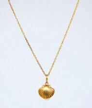 Γυναικείο κολίε, χρυσό, 14 καράτια με πέτρες μαργαριτάρια.