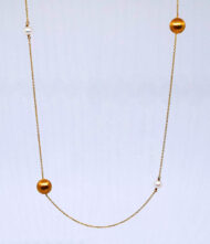 Γυναικείο Κολιέ Χρυσό Κ14 Με Μαργαριτάρια. Γυναικείο κολίε, χρυσό, 14 καράτια με πέτρες μαργαριτάρια.
