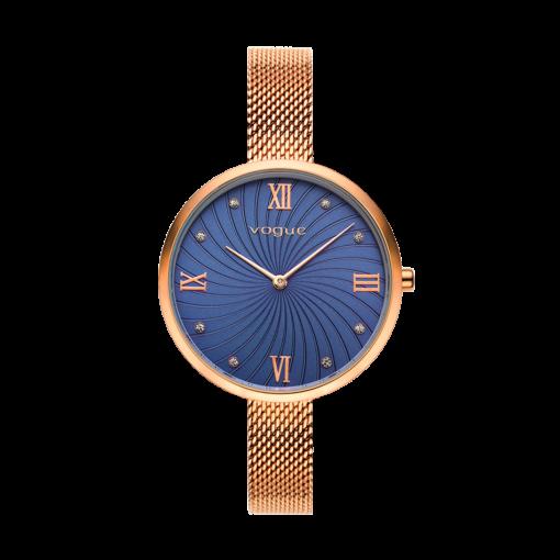 Γυναικείο ρολόι VOGUE Pop 812154 Γυναικείο ρολόι Vogue με μπλε χρώμα καντράν και ροζ χρυσό χρώμα μπρασελέ.
