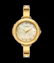 Γυναικείο ρολόι VOGUE Caprice II 812343 Γυναικείο ρολόι Vogue με χρυσό χρώμα καντράν και χρυσό χρώμα μπρασελέ.