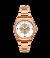 Γυναικείο ρολόι VOGUE Tornado L 813053 Γυναικείο ρολόι Vogue με μεταλλικό λευκό με γκρι και ροζ χρυσά σημεία χρώμα στο καντράν