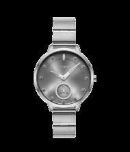 Γυναικείο ρολόι Forum 815082 Γυναικείο ρολόι Vogue με μαύρο χρώμα καντράν και ασημί χρώμα μπρασελέ.
