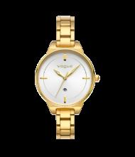 Γυναικείο ρολόι VOGUE Concord 815141 Γυναικείο ρολόι Vogue με λευκό χρώμα καντράν και χρυσό χρώμα μπρασελέ.