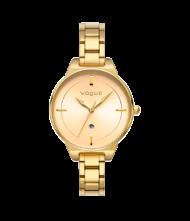Γυναικείο ρολόι VOGUE Concord 815142 Γυναικείο ρολόι Vogue με χρυσό χρώμα καντράν και χρυσό χρώμα μπρασελέ.