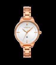 Γυναικείο ρολόι VOGUE Concord 815151 Γυναικείο ρολόι Vogue με λευκό χρώμα καντράν και ροζ χρυσό χρώμα μπρασελέ.