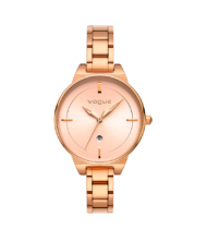 Γυναικείο ρολόι VOGUE Concord 815171 Γυναικείο ρολόι Vogue με ροζ χρυσό χρώμα καντράν και ροζ χρυσό χρώμα μπρασελέ.