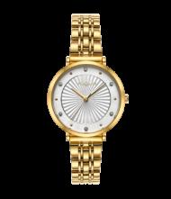 Γυναικείο ρολόι VOGUE New Bliss 815341 Γυναικείο ρολόι Vogue με λευκό χρώμα καντράν και χρυσό χρώμα μπρασελέ.