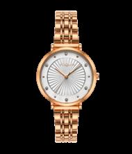 Γυναικείο ρολόι VOGUE New Bliss 815351 Γυναικείο ρολόι Vogue με λευκό χρώμα καντράν και ροζ χρυσό χρώμα μπρασελέ.