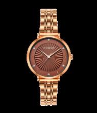 Γυναικείο ρολόι VOGUE New Bliss 815353 Γυναικείο ρολόι Vogue με καφέ χρώμα καντράν και ροζ χρυσό χρώμα μπρασελέ.