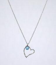Γυναικείο Κολιέ από Λευκόχρυσο 18 Καράτια με Διαμάντι σε Κοπή Μπριγιάν(Br). Κολιέ Λευκόχρυσο K.18 με Διαμάντια