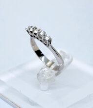 Δαχτυλίδι Χρυσό Κ18 με Διαμάντια BR/Δ/2. Γυναικείο δαχτυλίδι από λευκό χρυσό 18 καράτια με διαμάντια σε κοπή μπριγιάν(Br).