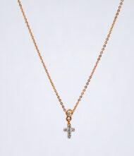 Κολιέ Χρυσό K.18 με Διαμάντια BR/K/59. Γυναικείο Κολιέ από χρυσό 18 Καράτια με Διαμάντι σε Κοπή Μπριγιάν(Br).