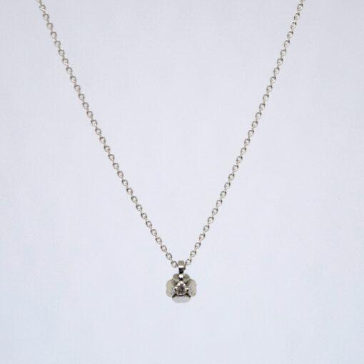Γυναικείο σετ κοσμημάτων που αποτελείται από Κολιέ χρυσό 18Κ με Διαμάντι σε Κοπή Μπριγιάν και ζευγάρι σκουλαρίκια με Διαμάντι σε Κοπή Μπριγιάν