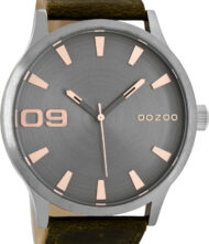 OOZOO 50mm Unisex Brown Leather Strap C8531