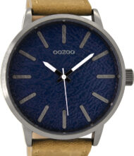 OOZOO 48mm Unisex Brown Leather Strap C8531