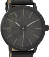 OOZOO Timepieces Black Leather Strap C9604
