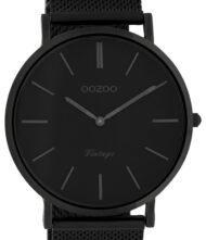 OOZOO Timepieces Vintage XL Black Metal Strap C9932
