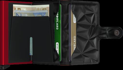 Πορτοφόλι Secrid Miniwallet Prism Black-Red