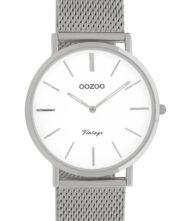 OOZOO Vintage Silver Metalic Mesh Bracelet C9903