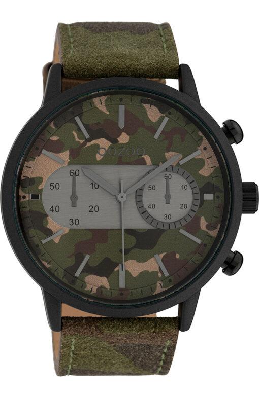 OOZOO Timepieces XXL Camo Leather Strap C10068