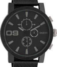 OOZOO Timepieces Black Mesh Stainless Steel Bracelet C10264