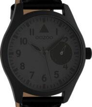 OOZOO Timepieces XXL Black Leather Strap C10329