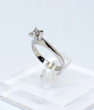 Δαχτυλίδι Χρυσό Κ18 με Διαμάντια BR/Δ/22. Γυναικείο δαχτυλίδι από λευκό χρυσό 18 καράτια με διαμάντια σε κοπή μπριγιάν(Br).
