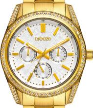 Γυναικείο Ρολόι Breeze με κάσα από ανοξείδωτο ατσάλι και μπρασελέ από μασίφ ατσάλι. Το ρολόι ανήκει στην σειρά Floris με κωδικό 212201.2