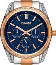 Γυναικείο Ρολόι Breeze με κάσα από ανοξείδωτο ατσάλι και μπρασελέ από μασίφ ατσάλι. Το ρολόι ανήκει στην σειρά Floris με κωδικό 712201.3