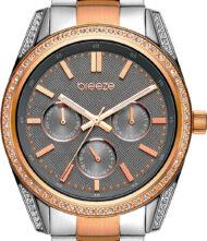 Γυναικείο Ρολόι Breeze με κάσα από ανοξείδωτο ατσάλι και μπρασελέ από μασίφ ατσάλι. Το ρολόι ανήκει στην σειρά Floris με κωδικό 712201.6