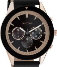 Ανδρικό ρολόι ΟΟΖΟΟ με μαύρο χρώμα καντράν και με μαύρο χρώμα λουράκι. Η διάμετρος της κάσας είναι 45mm και είναι κατασκευασμένη από μέταλλο.