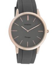 Unisex ρολόι ΟΟΖΟΟ με ανθρακί χρώμα καντράν και με ανθρακί χρώμα λουράκι. Η διάμετρος της κάσας είναι 42mm και είναι από μέταλλο.
